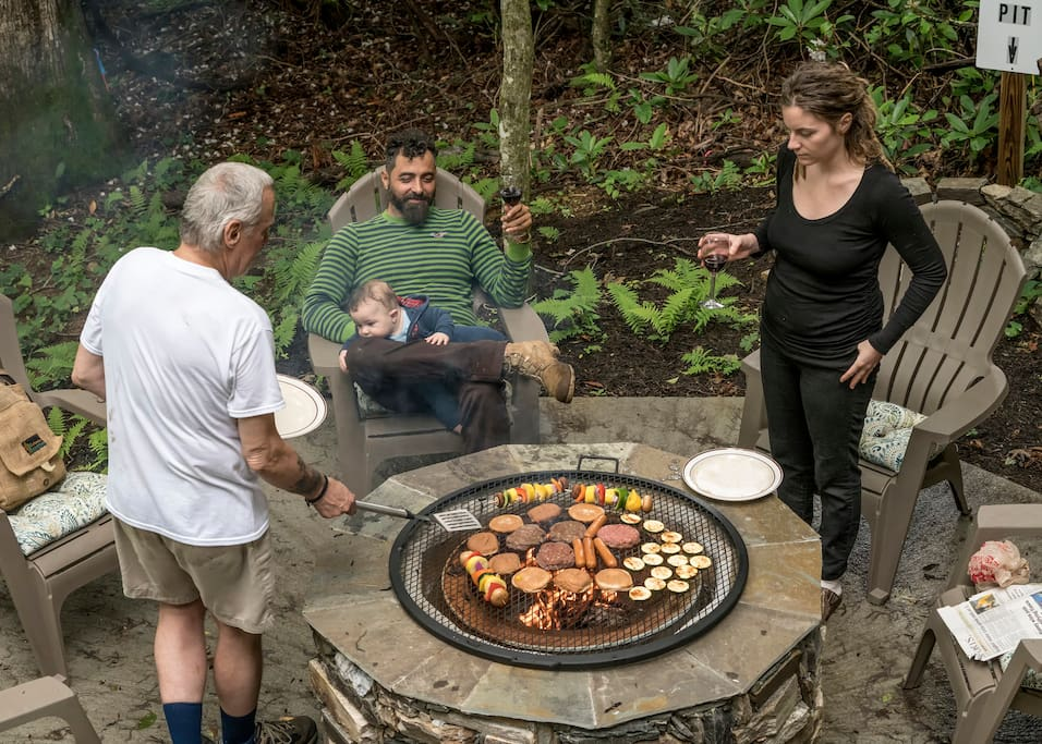 The Fire Pit is a perfect place for a relaxing cookout with your friends.