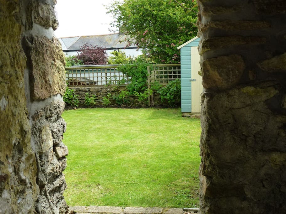 View from courtyard to garden