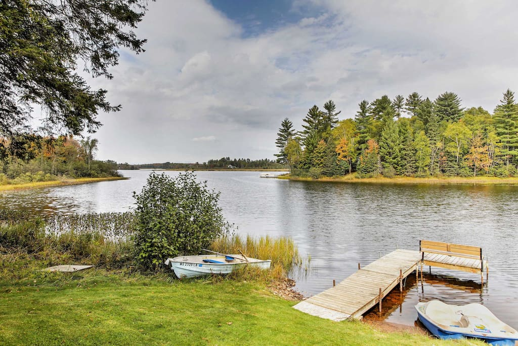 Swim off the dock or take the canoe out for a spin on the water.