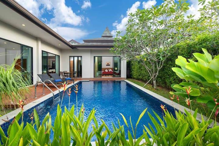 Cozy 3 bedroom pool Villa in Layan, Phuket