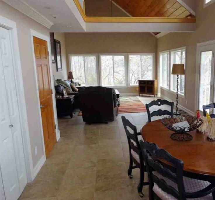 Open floor plan great for entertaining nice size kitchen and lake views.