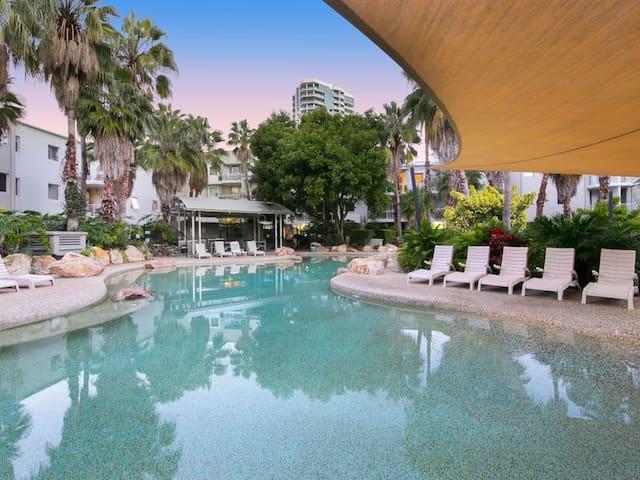 Large resort-style swimming pool