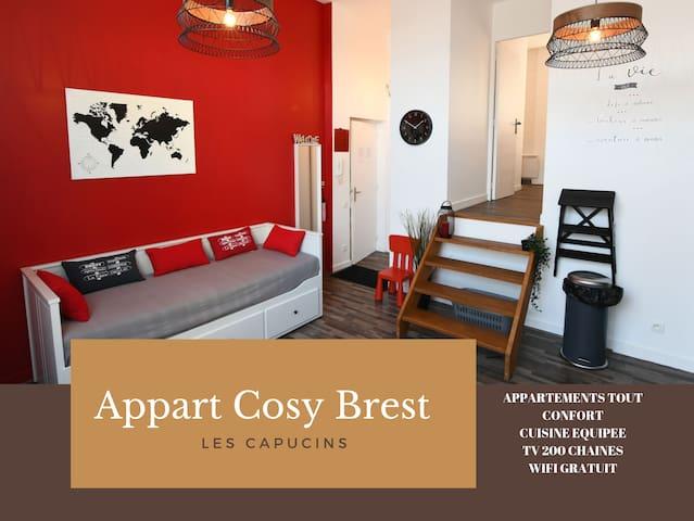Appart Cosy Brest 2  (Les capucins)