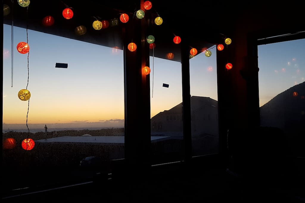 Twilight from the upstairs living room