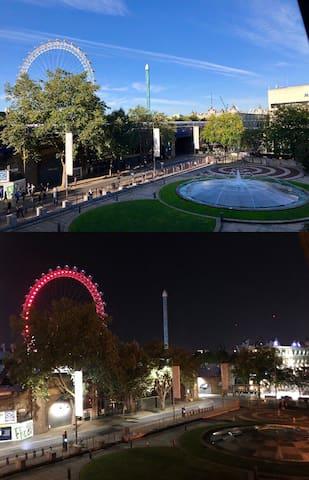 伦敦一区市中心公寓/泰晤士河沿岸/房间看伦敦眼跨年烟火/滑铁卢站交通便利/南岸圣诞集市/免费泳池健身