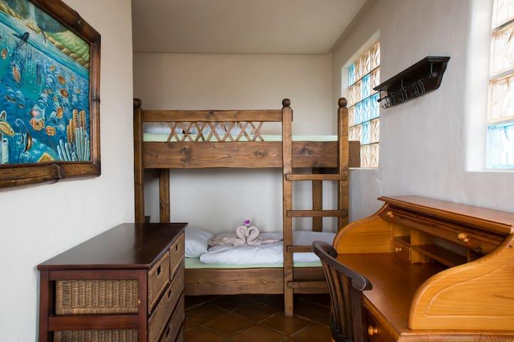 Das Schlafzimmer 3 mit dem Stockbett