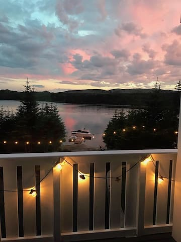 Summer evening view from deck, enjoy a  barbecue and watch the sunset right from your own private deck.