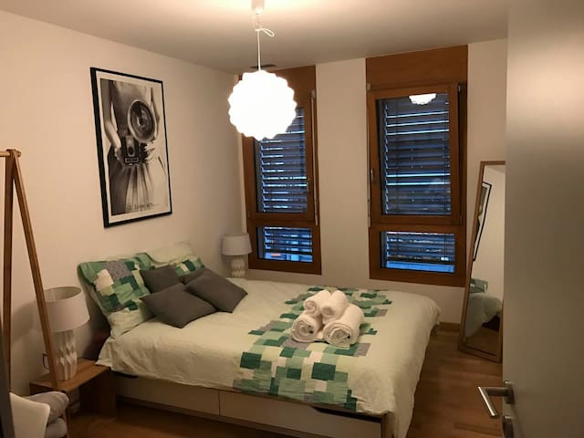Business and leisure ready bedroom with parking - Sion - Huoneisto
