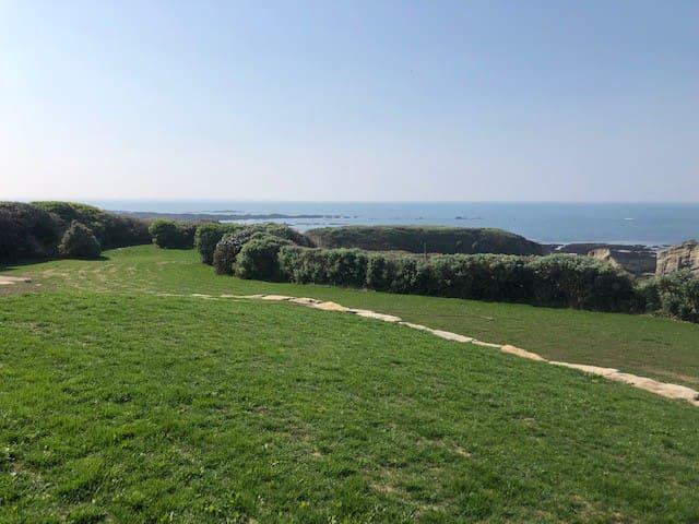 Jardin face mer