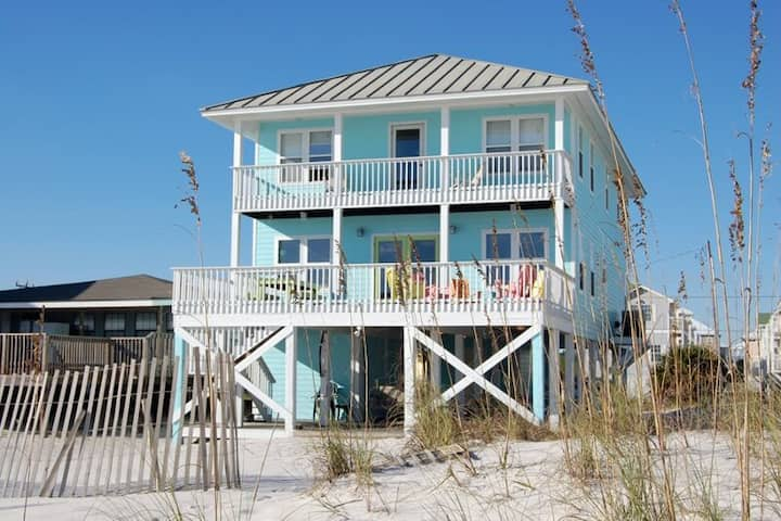 Lagniappe II - Gulf front 5 Bedroom 3.5 Bath West Beach close to everything - 1973