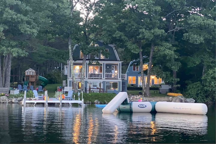 6 Bedroom Lake House + Hot Tub!  Main +Guest House