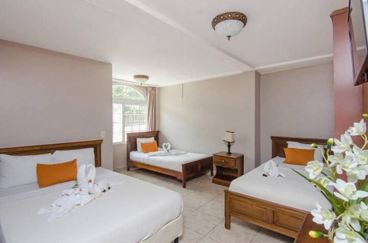 Fabuloso Hostal con diferentes tipos de cuartos