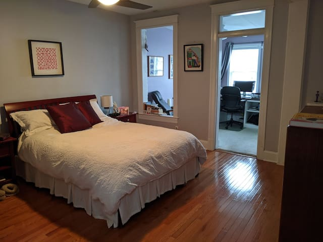 Master bedroom with bright, quiet adjoining office