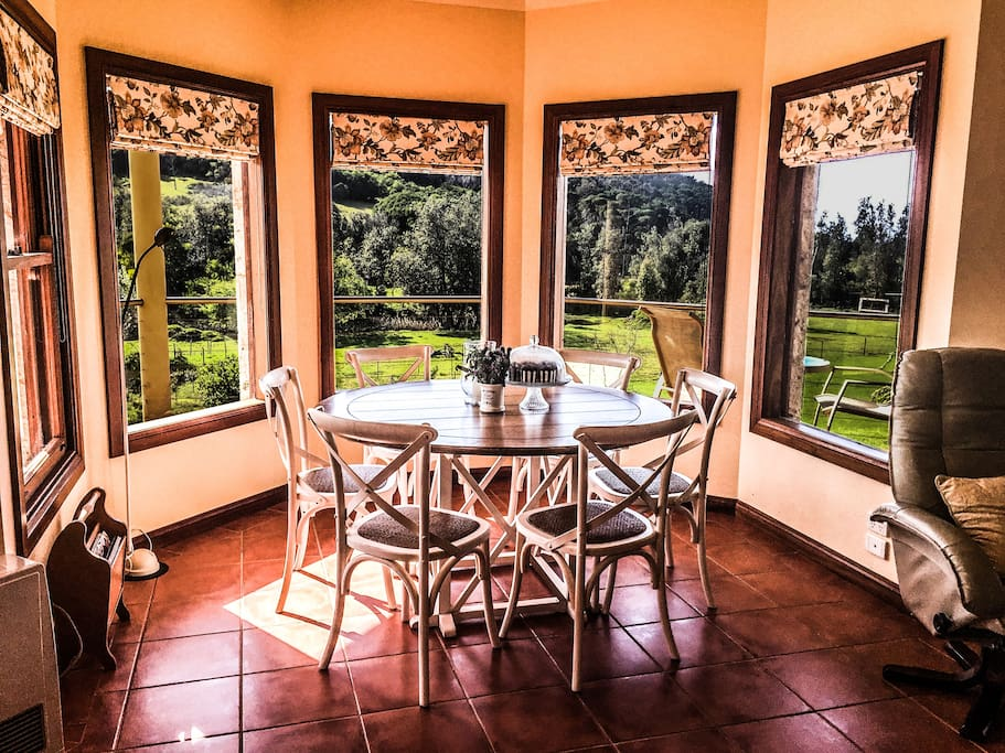 Dining area with 180 degree views.