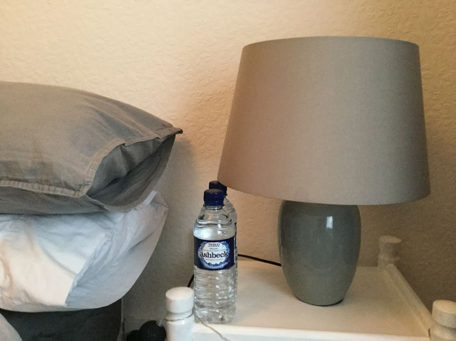 A free bottle of water for each guest