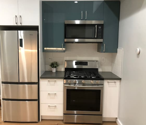 Brand-new stainless steel appliances
