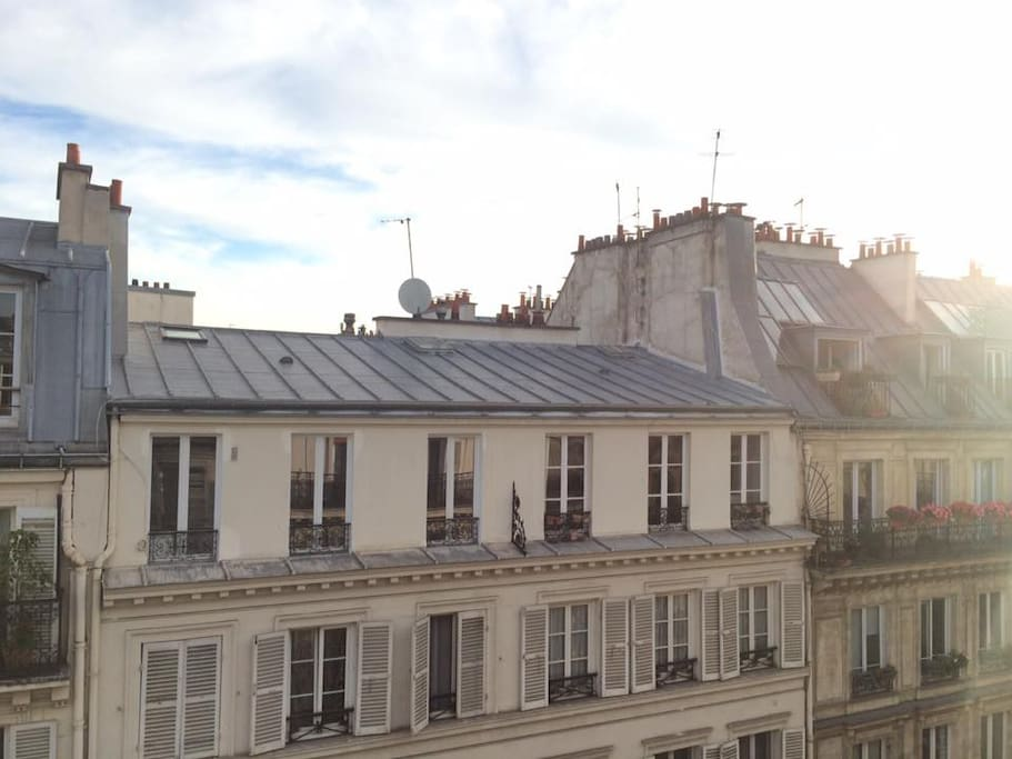 View from the flat on Paris roofs