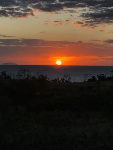 sunset from the house outlooking Desecho Island
