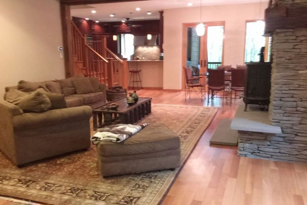Living Room with open concept to dining area