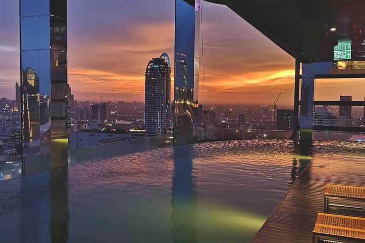 360° Sky Pool/Central World四面佛商圈/BTS&ARL双轨高端公寓/SYQ