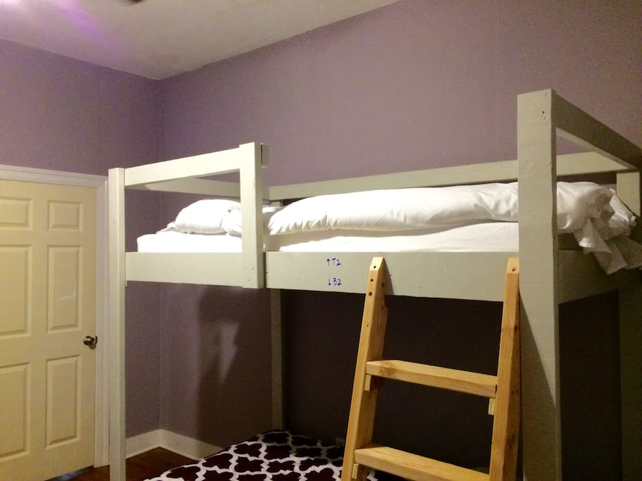 Your bed is the top bunk (T2)