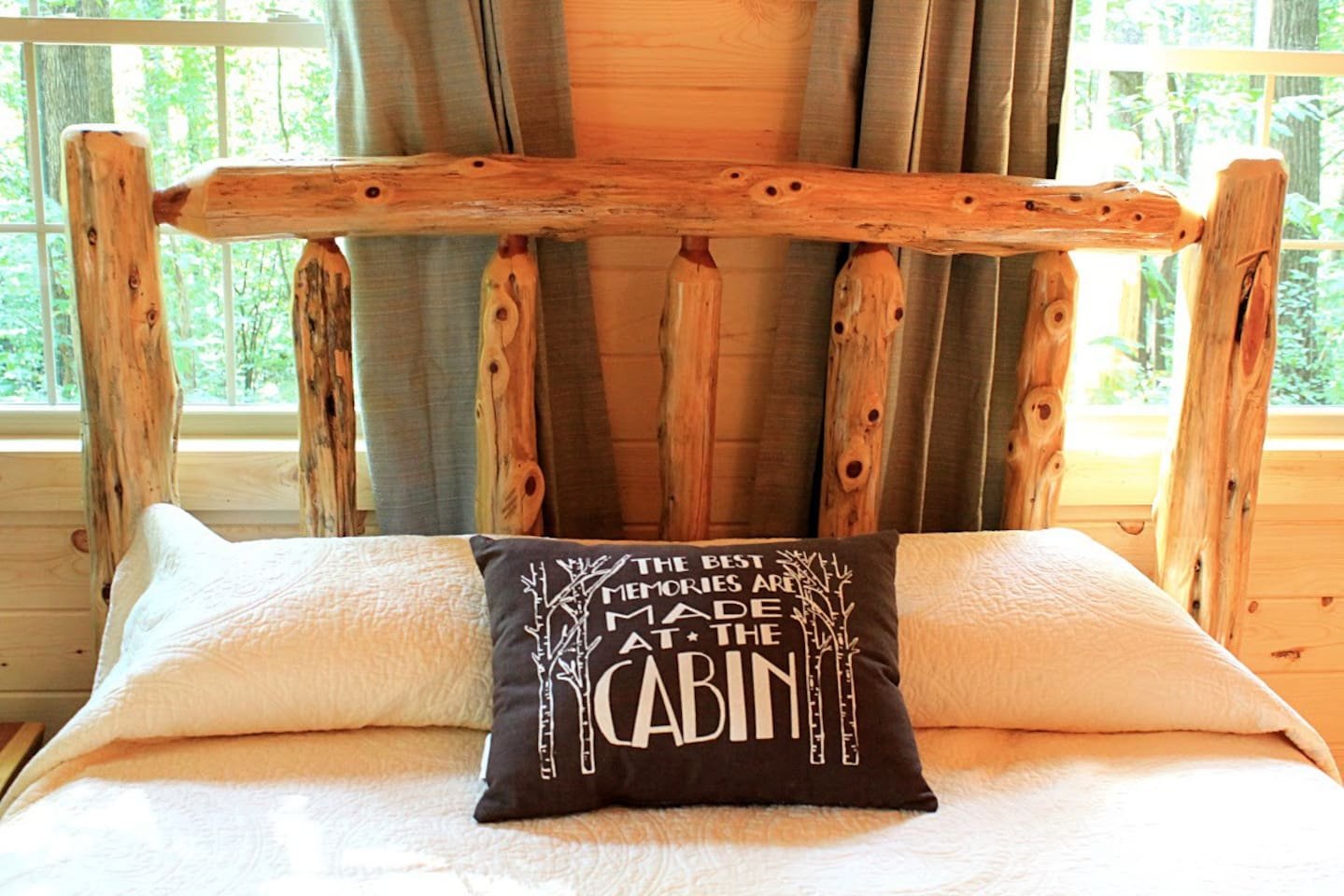 Our furniture is made from locally reclaimed wood.