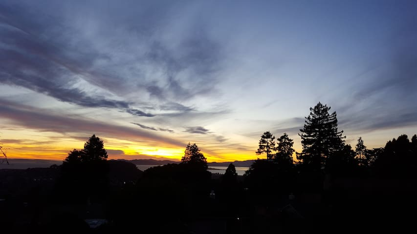 Sunset from the balcony