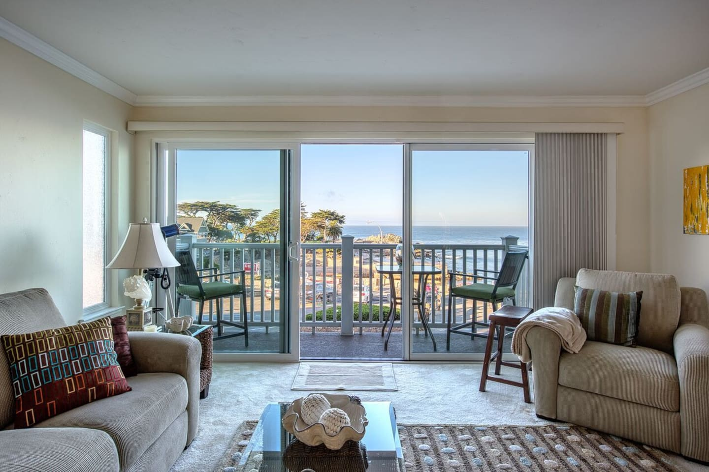 Great Room with view of the Monterey Bay.