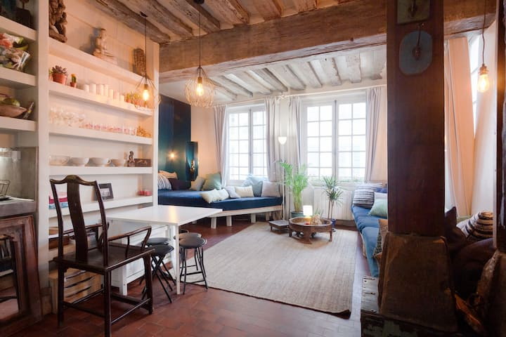 Charming small loft in the heart of Paris
