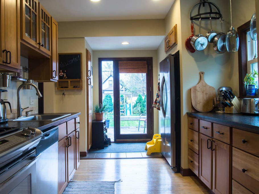 Sunny kitchen with modern amenities