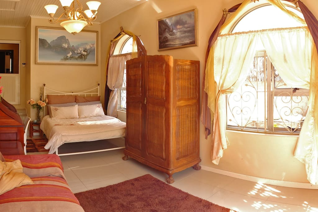 The Lounge Area with double bed