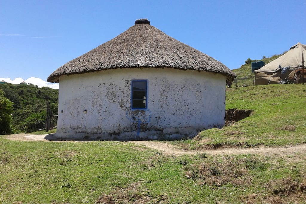 Rustic traditional Xhosa homestead nestled in a quiet village