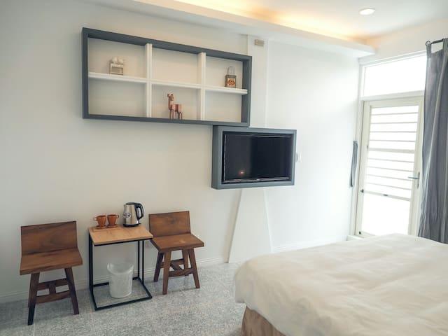 雙人加大床套房 有陽臺 - Hengchun - Maison