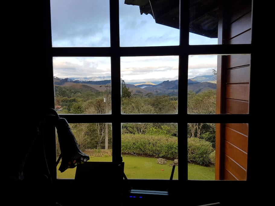 View from second floor - Mountains