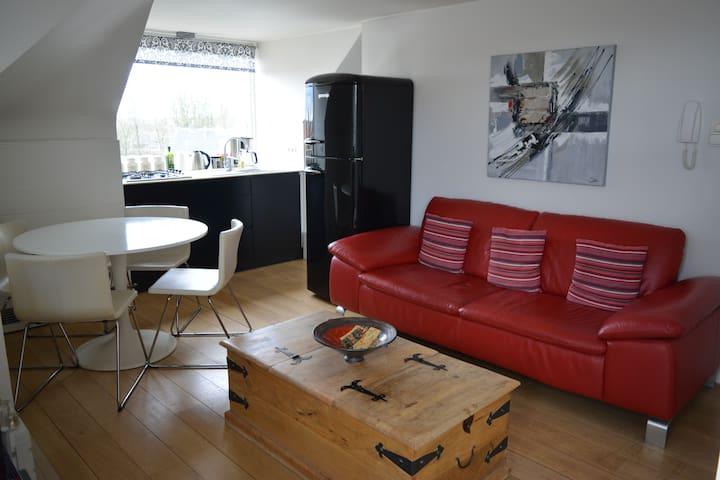 Gezellig appartement met uitzicht op het stadspark