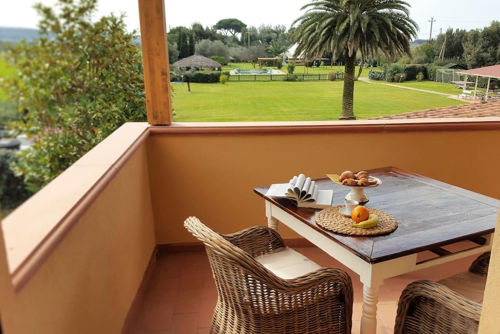 Equipped terrace Terrazza attrezzata