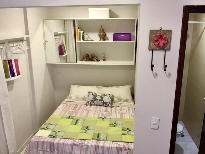 Mini Apartamento com lavadora de Roupas
