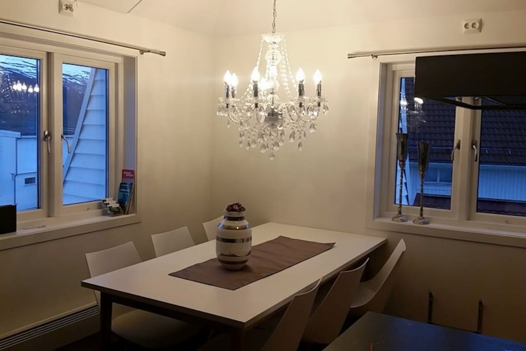 Dining table upstairs