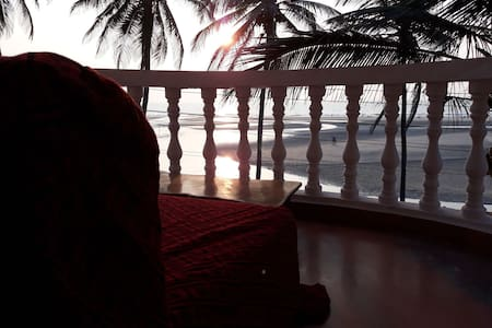 Sunset # beach view @Ashwem Beach #Room No 8