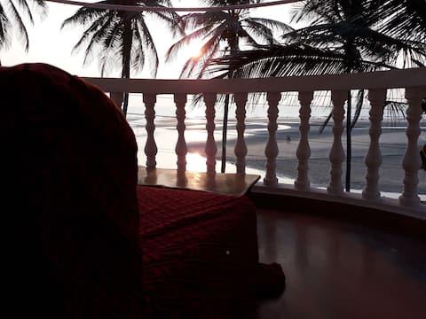 Room No 8 # Sunset # beach view @Ashwem Beach
