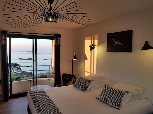 Seaview room with panoramic view terrace
