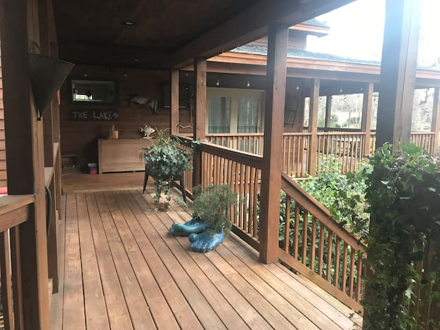 Plenty of porches to enjoy your morning coffee.