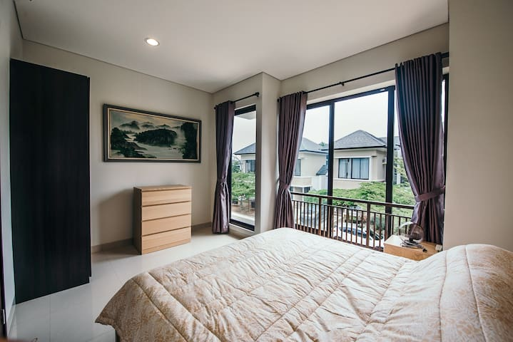 Master-bed room with a view!
