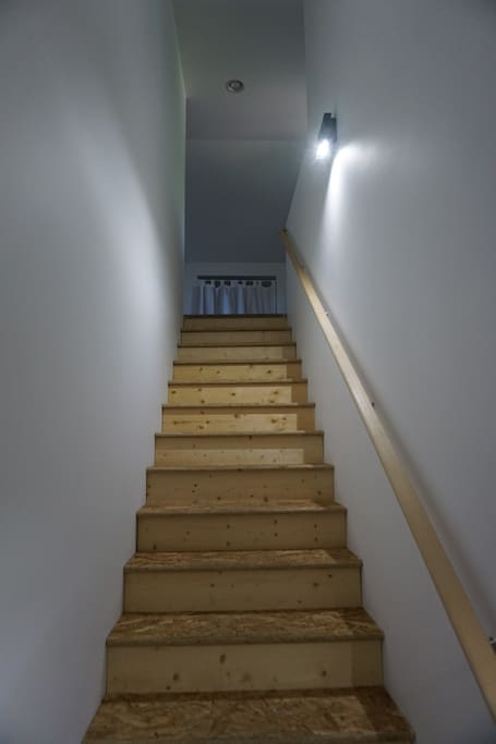 Stairs to apartment.