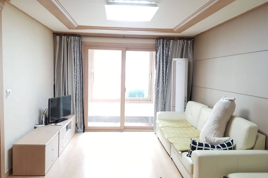 living room with aircondition