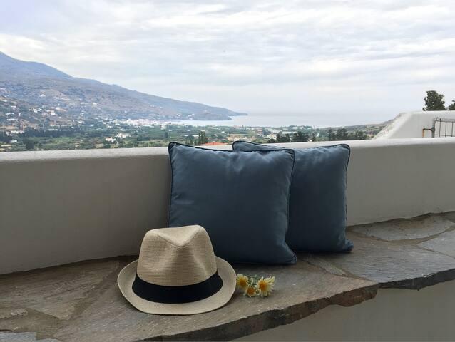 Cycladic sea view 3 bedroom house