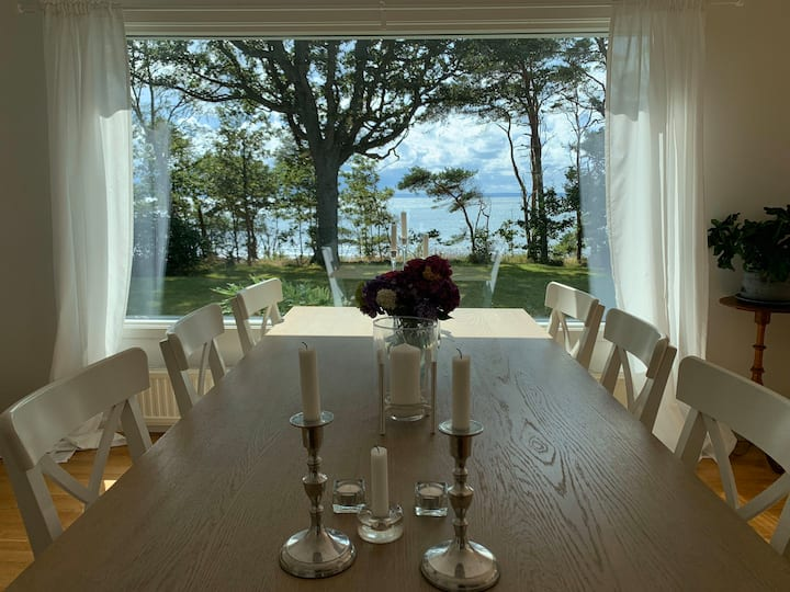 Ocean front Dining view at the Swedish Riviera