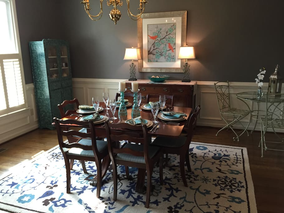 Formal dining room is available for more formal meals as well as the casual breakfast room.