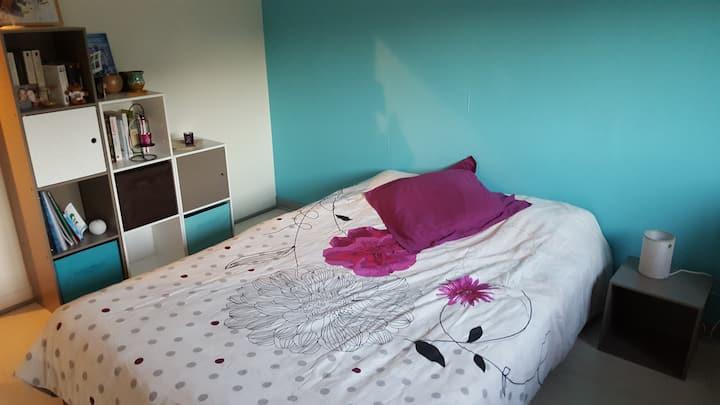 chambre privée dans appartement agréable et calme