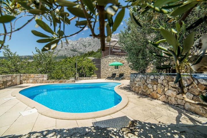 Villa Belvedere**** with heated pool and garden - Macarsca - Villa